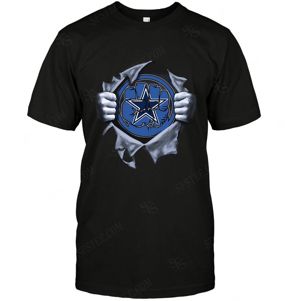 Nfl Dallas Cowboys Hulk Logo Dc Marvel Jersey Superhero Avenger Tshirt Plus Size Up To 5xl