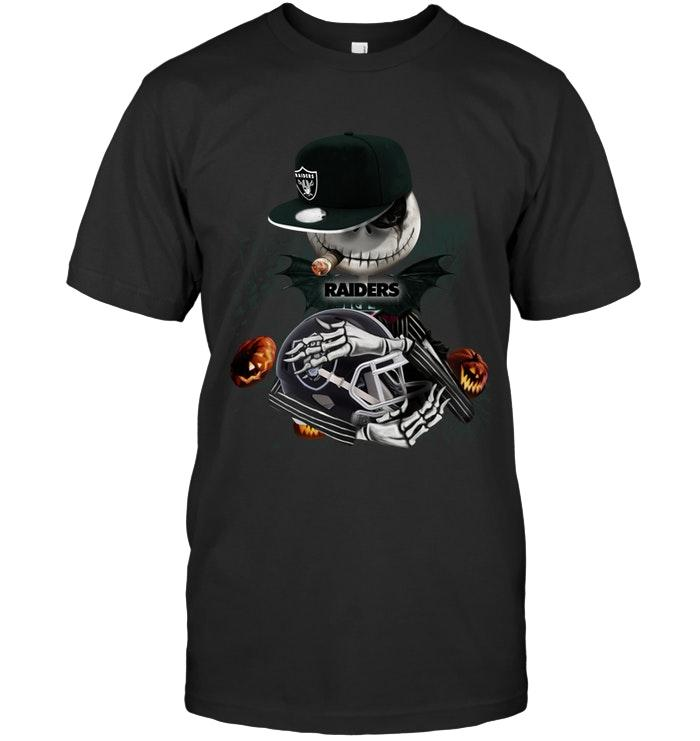Nfl Oakland Raiders Fear The Oakland Raiders Jack Skellington Halloween Harvest Field Shirt Shirt Size Up To 5xl