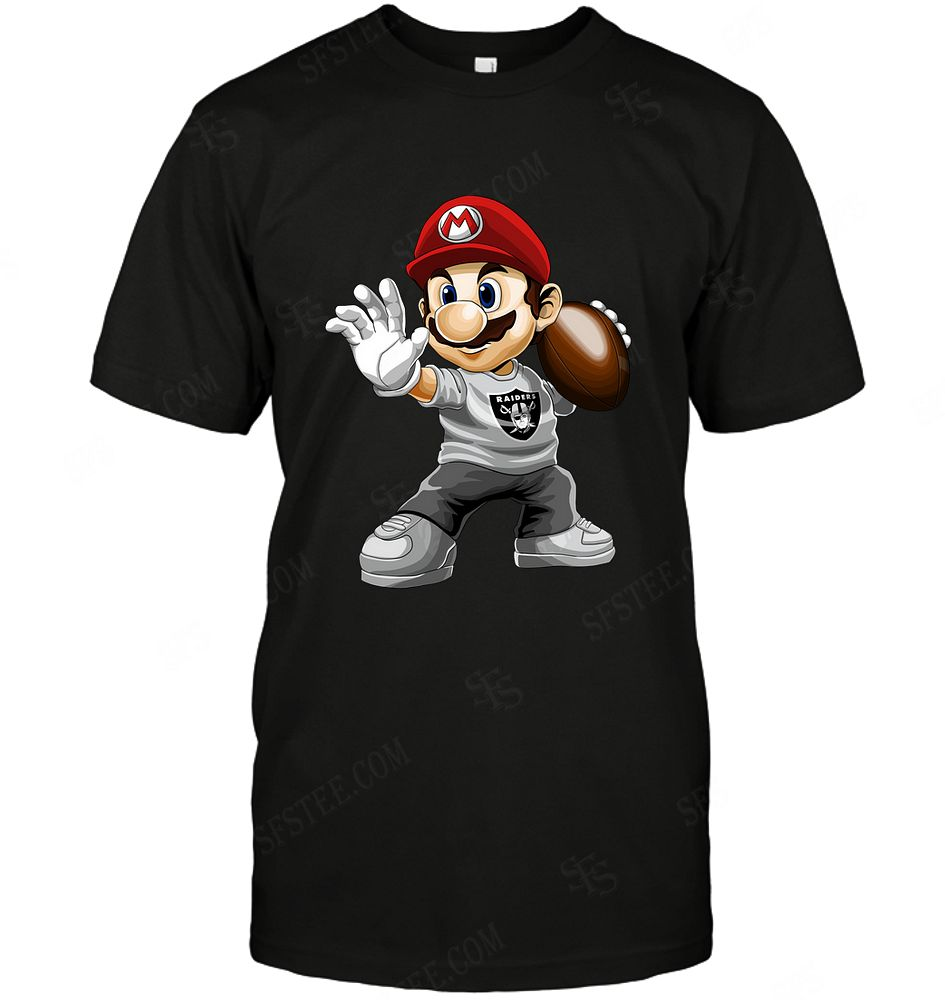 Nfl Oakland Raiders Mario Nintendo Sweater Size Up To 5xl