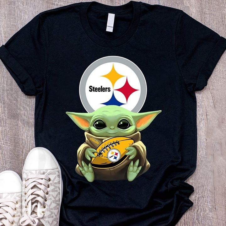 Nfl Pittsburgh Steelers Baby Yoda Loves Pittsburgh Steelers The Mandalorian Fan Tshirt Hoodie Up To 5xl Hoodie Size Up To 5xl
