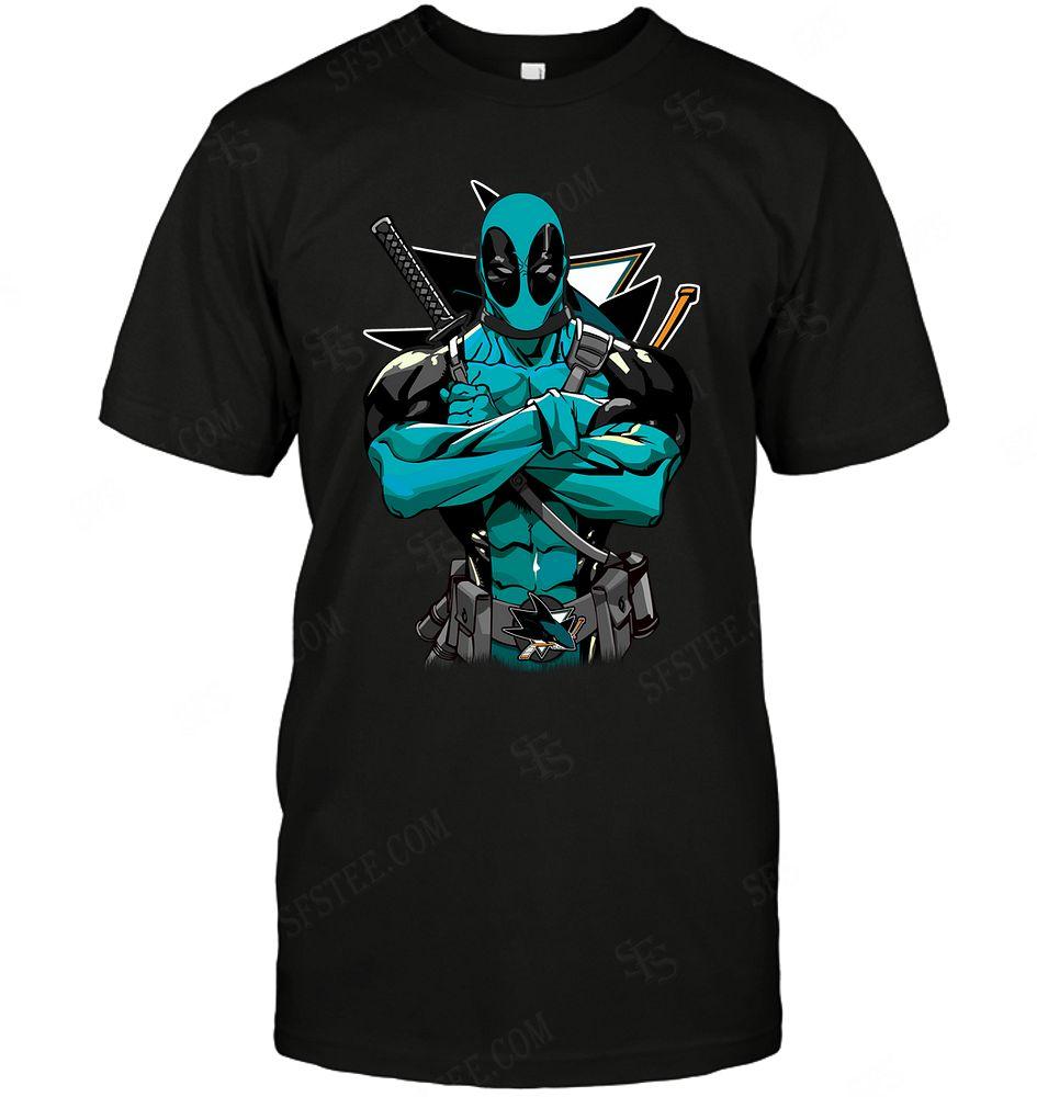 Nhl San Jose Sharks Deadpool Dc Marvel Jersey Superhero Avenger Sweater Size Up To 5xl