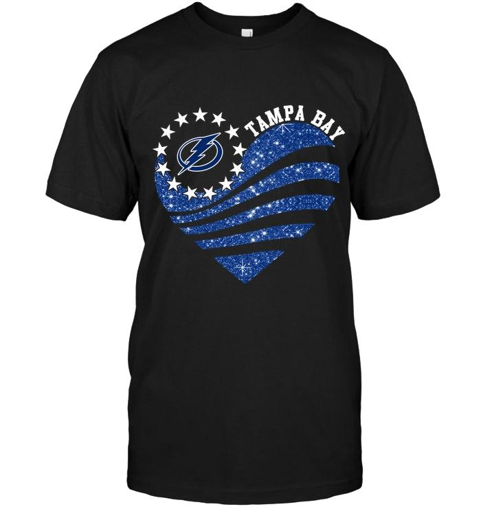 Nhl Tampa Bay Lightning Glitter Heart Shirt Long Sleeve Size Up To 5xl