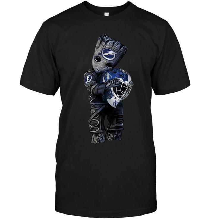Nhl Tampa Bay Lightning Groot Hugs Tampa Bay Lightning Ice Hockey Lover Shirt Plus Size Up To 5xl