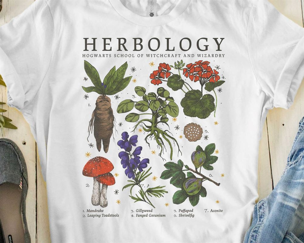 Harry Potter Herbology Plants Harry Potter Harry Potter Shirt Harry Potter T-shirt Herbology Shirt Herbology T-shirt Harry Potter Fan