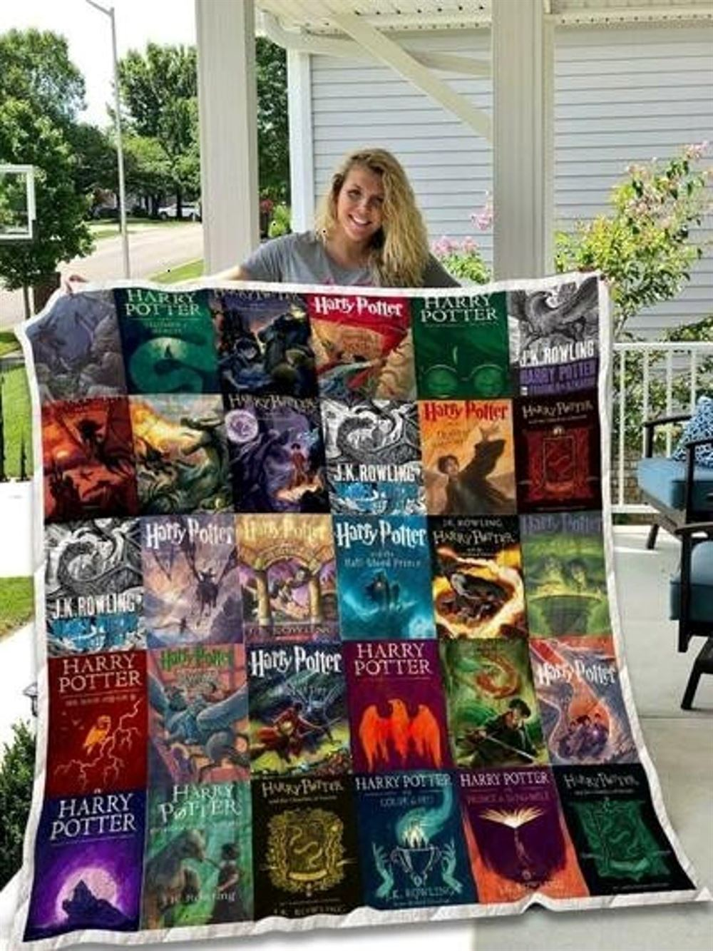 Harry Potter Quilt Blanket Gift For Fans Of Harry Potter Novels Adult Hooded Blanket Bedroom Personalized Customized Home Decor Gift