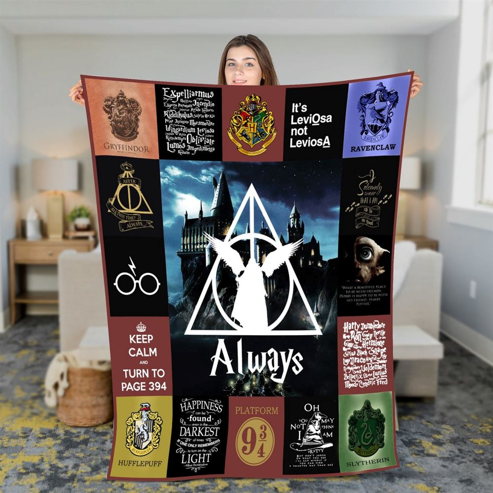 Harry Potter Quilt Blanket Harry Potter Quilt Hogwart Quilt Wizard Quilt Witch Quilt Magic Quilt Birthday Gift 2