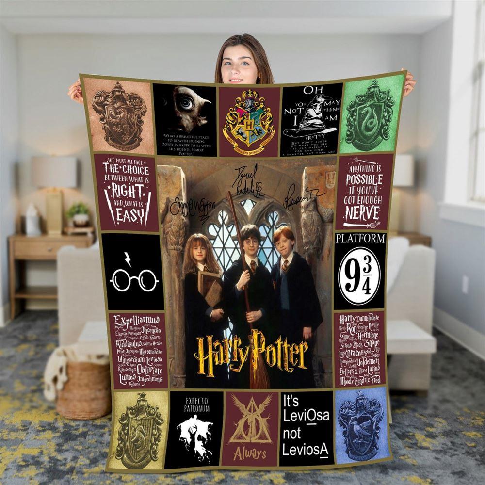 Harry Potter Quilt Blanket Harry Potter Quilt Hogwart Quilt Wizard Quilt Witch Quilt Magic Quilt Birthday Gift 3
