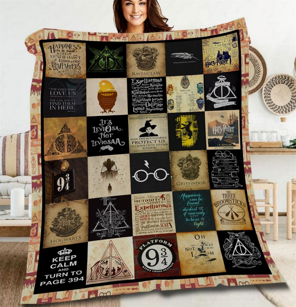 Harry Potter Quilt Blanket Harry Potter Quilt Hogwart Quilt Wizard Quilt Witch Quilt Magic Quilt Birthday Gift