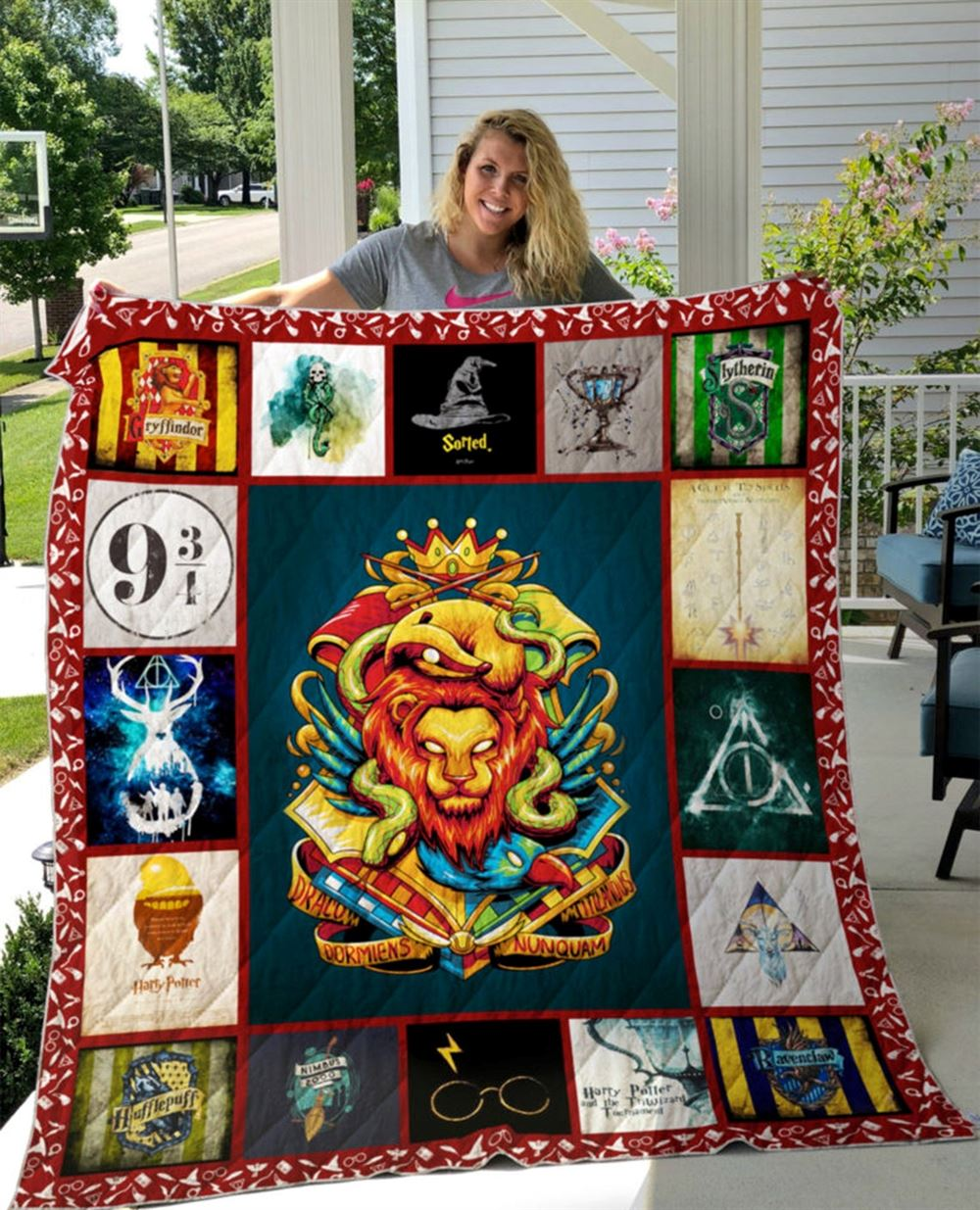 Harry Potter Quilt Blanketgift For Harry Potter Fans Quilts Blanket