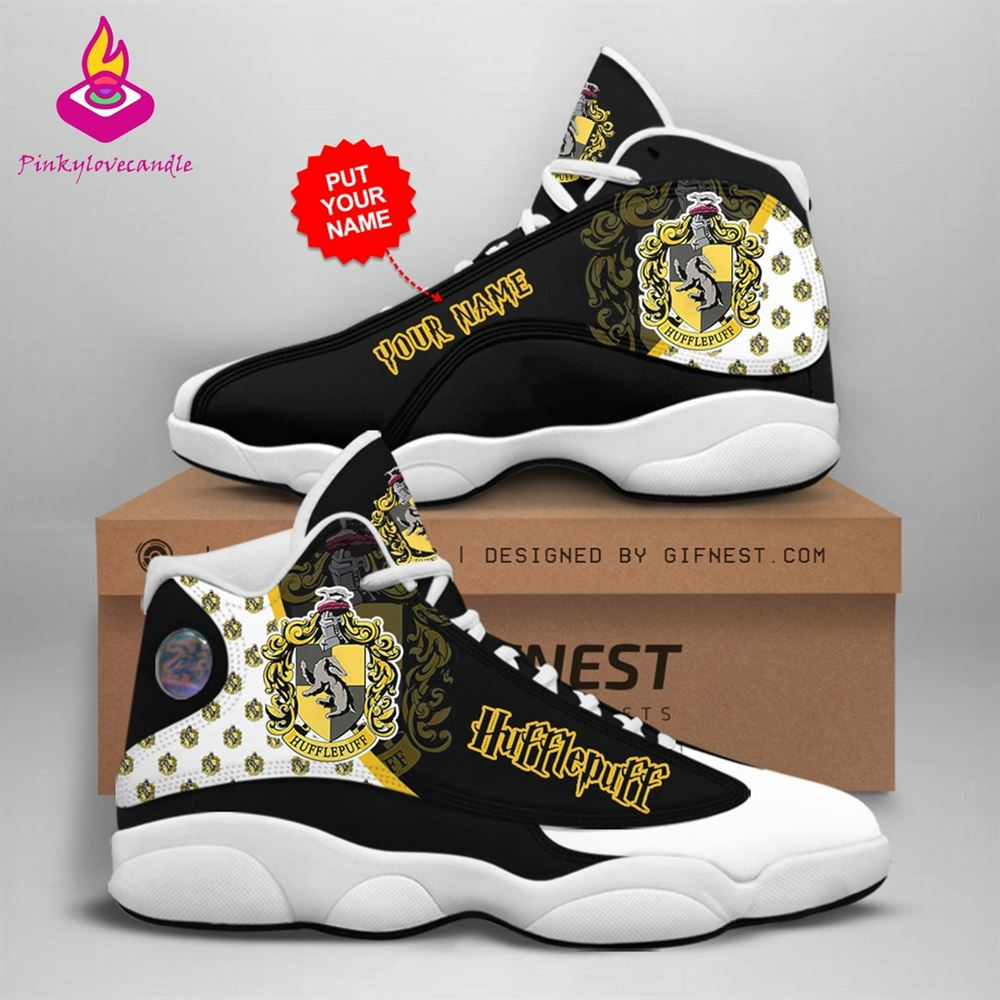 Harry Potter Air Jd13 Shoes Sneaker Hufflepuff School Fan Gifts Personalized Shoes Gifts For Men Women Sneaker Men Women