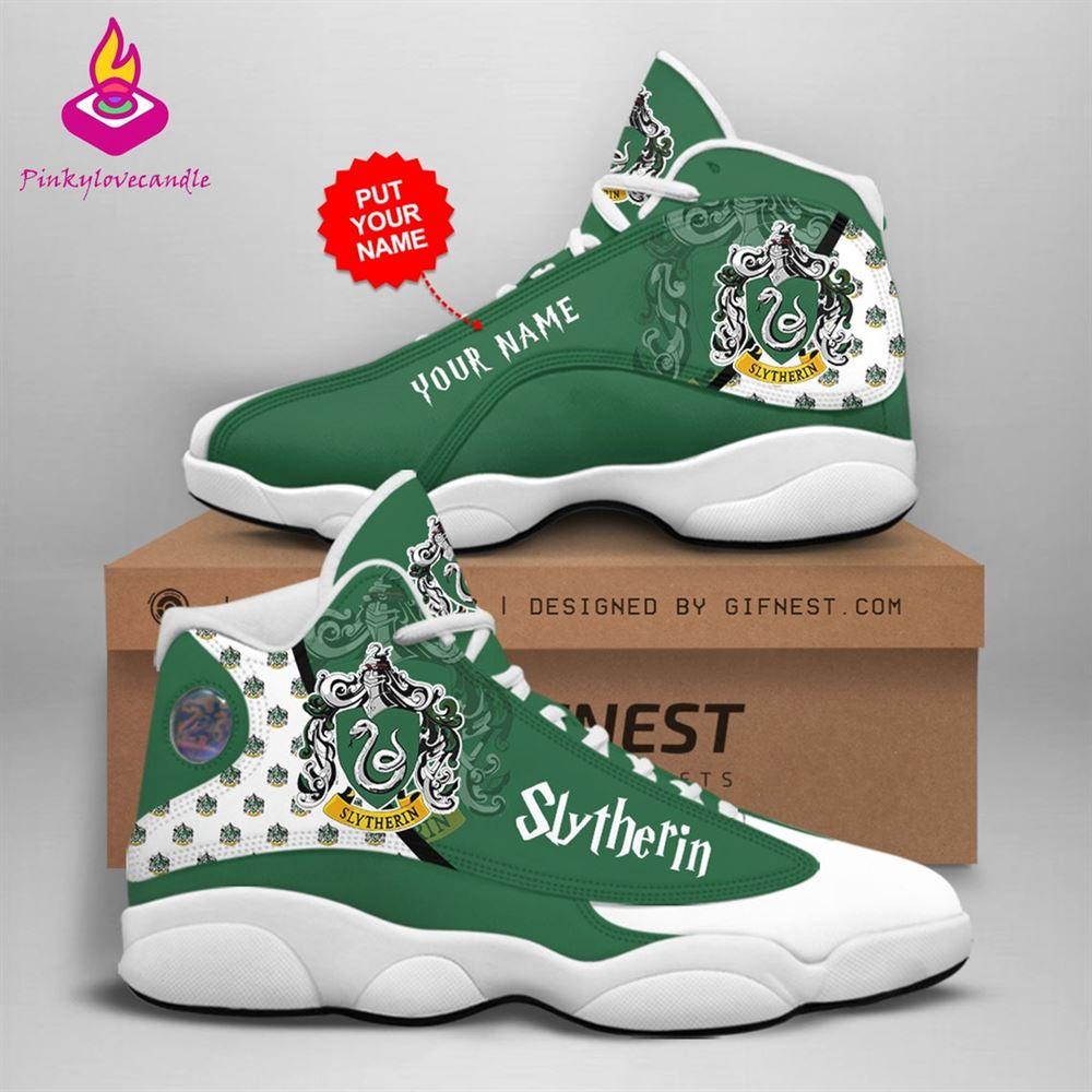Harry Potter Air Jd13 Shoes Sneaker Slytherin School Fan Gifts Personalized Shoes Gifts For Men Women Sneaker Men Women