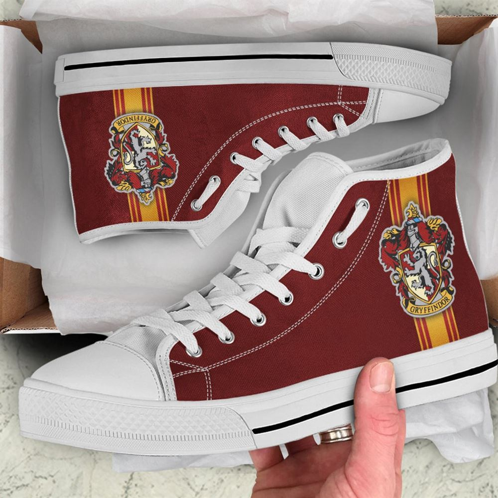 Gryffindoor Shoes Harry Potter Shoes Hogwarts Sneaker Harry Potter High Top Movie Custom Shoes Sport Sneaker Custom Hightop Gift 1