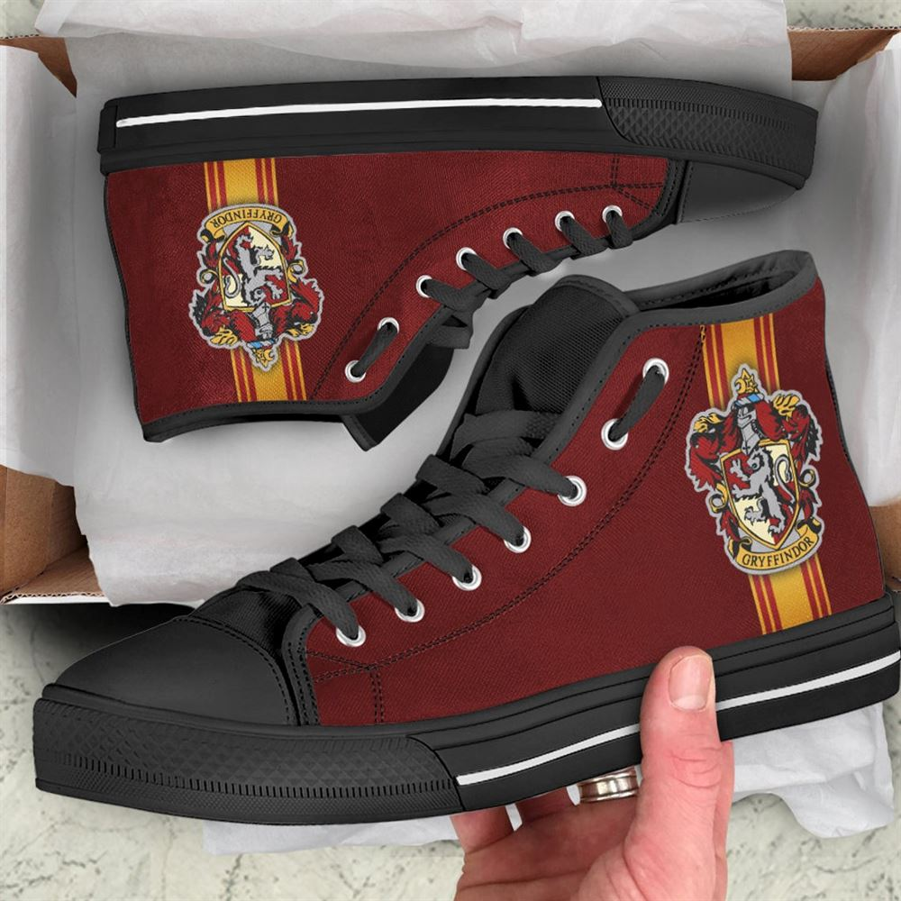Gryffindoor Shoes Harry Potter Shoes Hogwarts Sneaker Harry Potter High Top Movie Custom Shoes Sport Sneaker Custom Hightop Gift 2