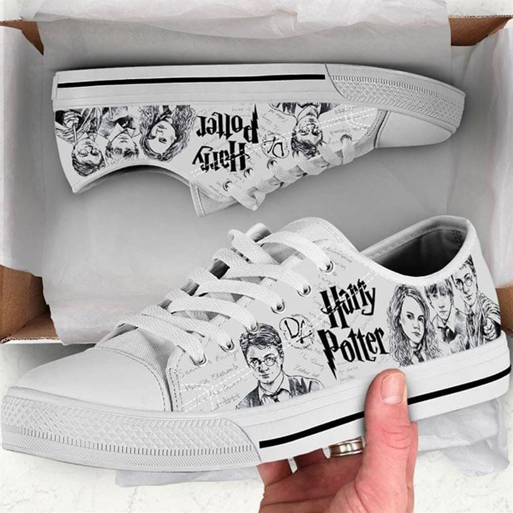 Harry Magical Wizard Potter Low Top Shoe For Men And Women Low Top Shoe Wizard Magic Shoe