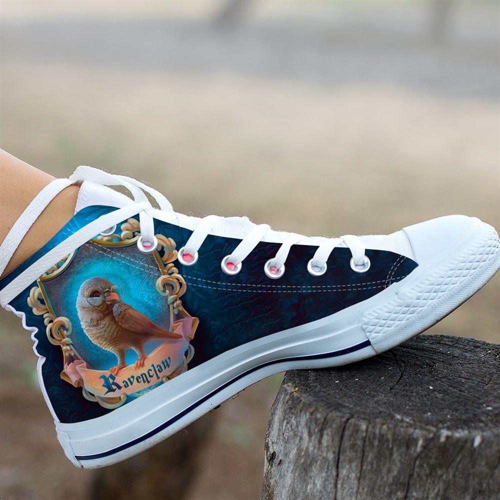 Harry Potter Custom Hightops Gryffindor Shoes Hogwarts Hightops Ravenclaw Custom Shoes Slytherin Hi Tops Custom Hightop Unisex Shoes