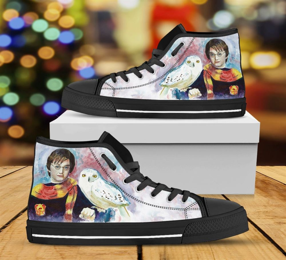 Harry Potter Custom Shoes Cartoon Harry Potter Shoes Harry Potter Hi Top Harry Potter Custom High Top Custom Shoes Valentine Gifts