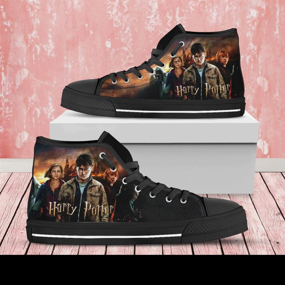 Harry Potter Custom Shoes Harry Potter Shoes Movie Harry Potter High Top Harry Potter High Top Hogwarts Shoes Custom Shoes