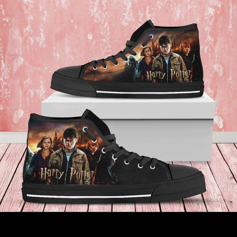Harry Potter Custom Shoes Harry Potter Shoes Movie Harry Potter High Top Harry Potter High Top Hogwarts Shoes Custom Shoes