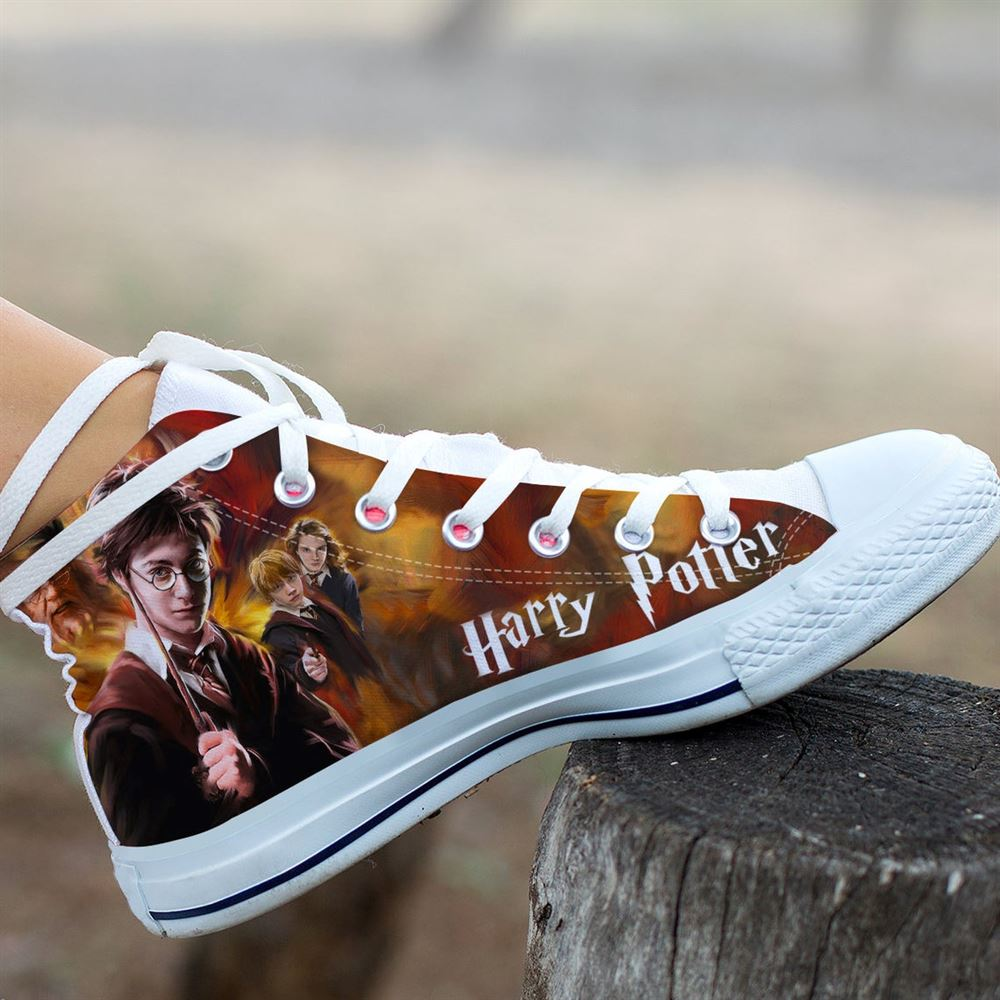 Harry Potter Custom Shoes Movie Harry Potter Shoes Harry Potter Hi Top Harry Potter Custom High Top Custom Shoes Valentine Gifts