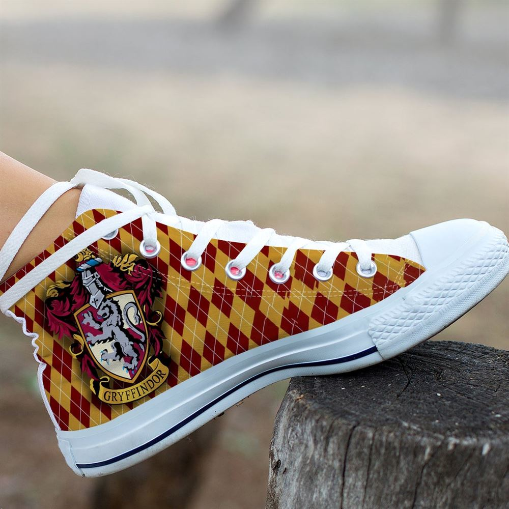 Harry Potter Hightop Hogwarts Canvas Shoes Custom Shoes Personalized Shoes Poster Shoes Unisex Shoes