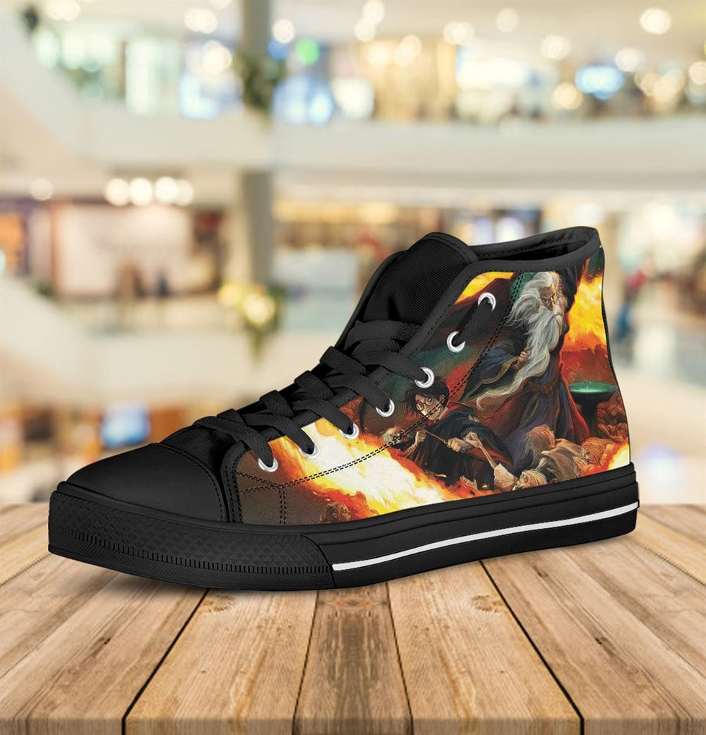 Harry Potter Hitop Harry Potter Custom Shoes Harry Potter Shoes Hogwarts Gryffindoor Harry Potter High Top Custom Shoesgift Valentine