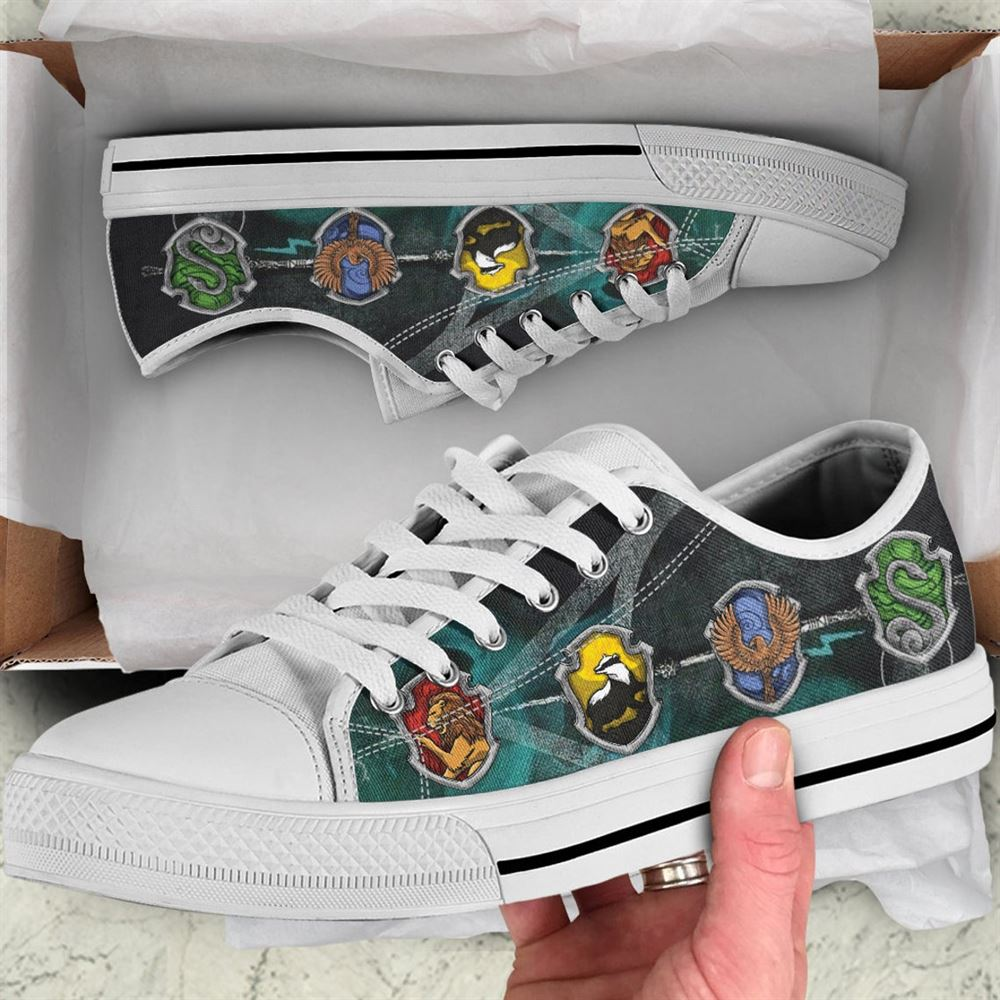 Harry Potters Houses Personalized Low Top Gryffindor Low Top Slytherin Shoes Ravenclaw Low Top Hufflepull Shoes Wizarding Low Top