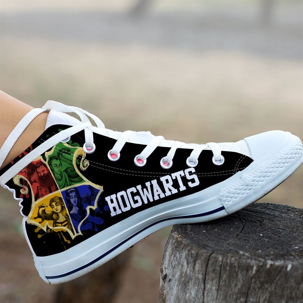 Hogwarts Harry Potter Shoes Harry Potter Custom Shoes Harry Potter Shoes Cartoon Harry Potter High