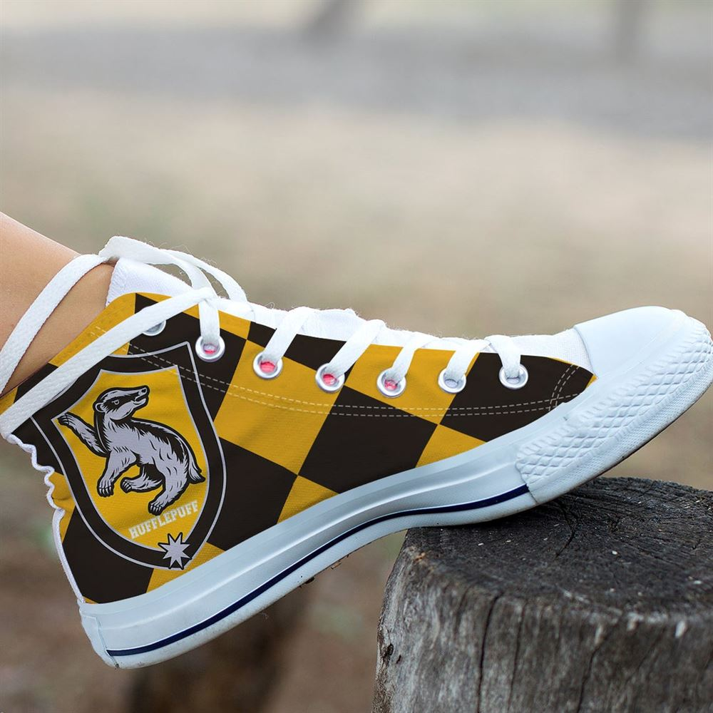 Hufflepuff Shoes Harry Potter Shoes Hufflepuff Monopoly Harry Potter High Top Harry Potter Custom Shoes Hufflepuff Custom Hightop