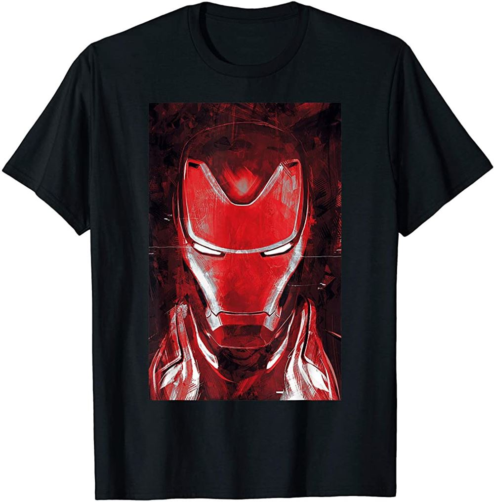 Avengers Endgame Red Iron Man Portrait Graphic Tee Size Up To 5xl