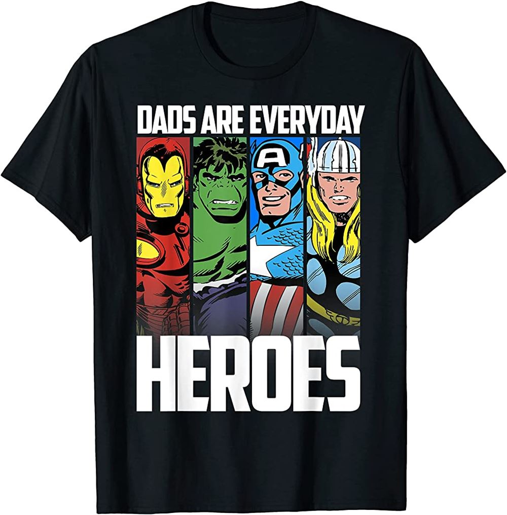 Avengers Fathers Day Everyday Heroes Graphic T-shirt T-shirt Size Up To 5xl