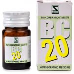 Medicines Mall - Willmar Schwabe India Bio Combination 20 (20 GM) Biocombination / BC Tablets