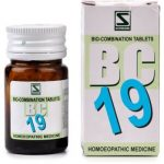 Medicines Mall - Willmar Schwabe India Bio Combination 19 (20 GM) Biocombination / BC Tablets