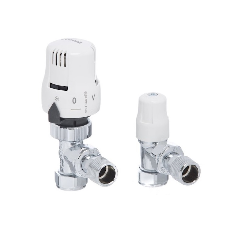 Altecnic 200445 LTC Ecopac 15mm Angle Thermostatic Radiator Valve (Twin Pack)