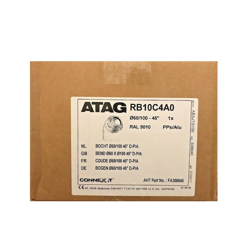 Atag RB10C4A0 60/100 45 Degree Flue Bend