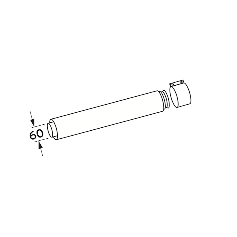 Vaillant 303902 Flue Extension 470mm 60/100