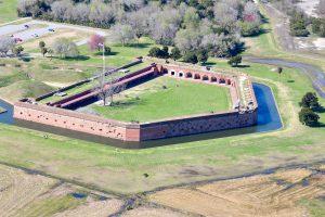 Present day Fort Pulaski from ski