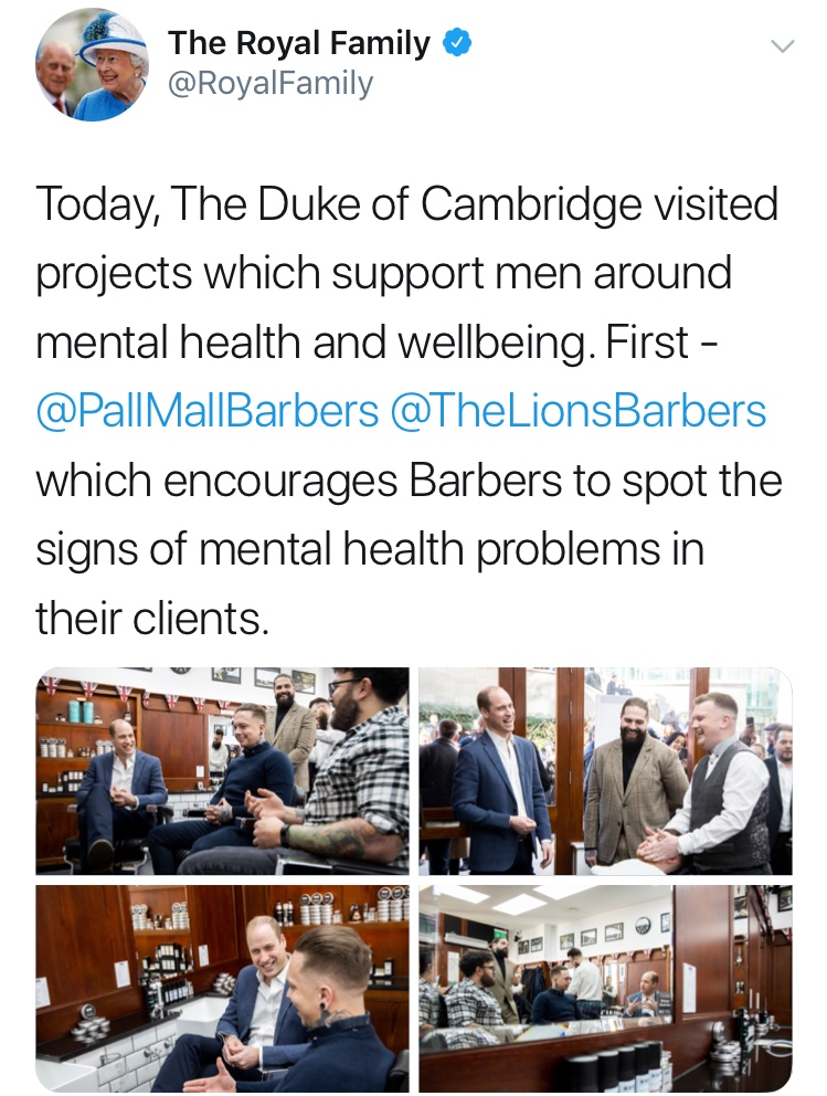 Prince William at Pall Mall Barbers | Best Men's Barbers Birmingham