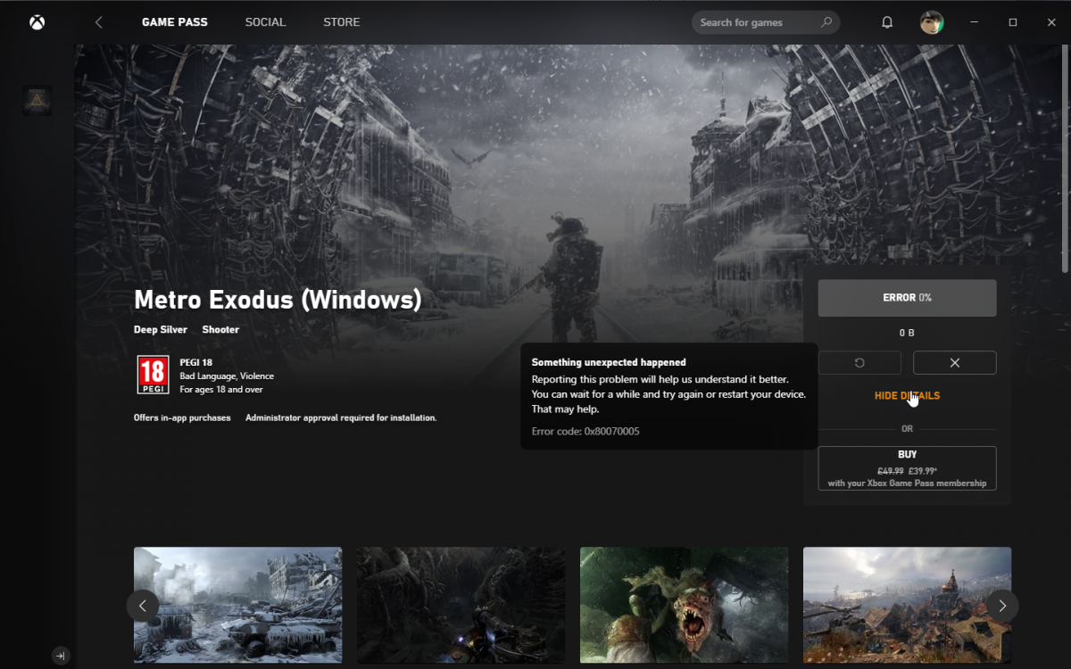 Metro Exodus, the UWP variant  - Articles and