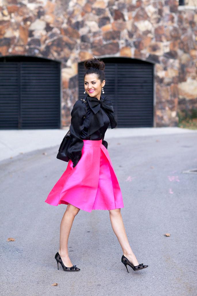 kate-spade-hot-pink-a-line-skirt