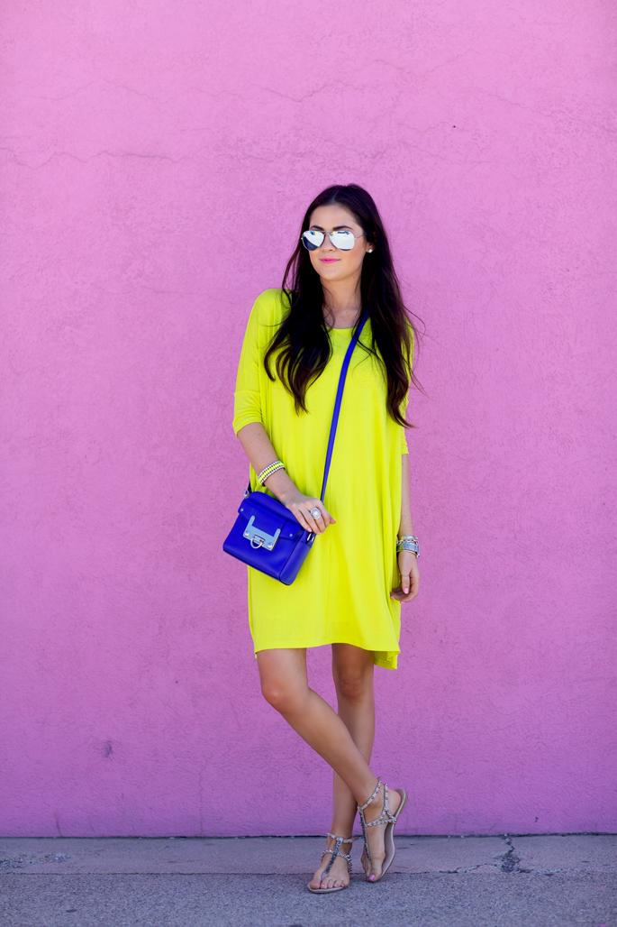 highlighter-yellow-asos-dress