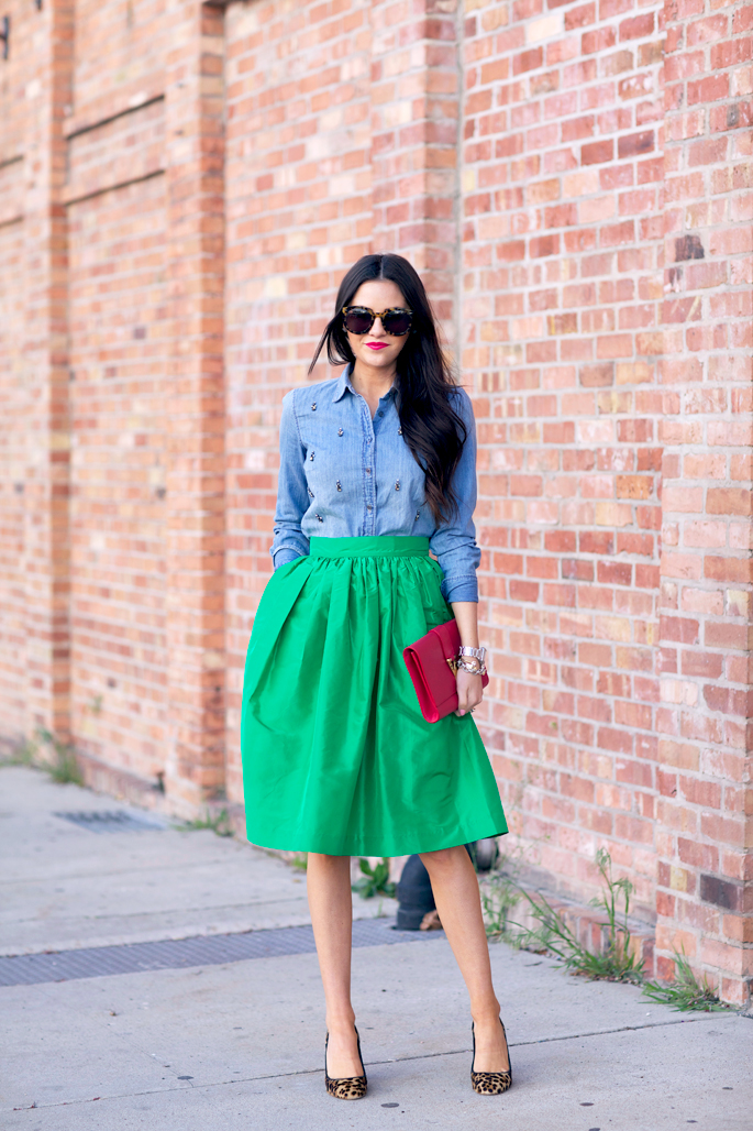kelly-green-full-party-skirt