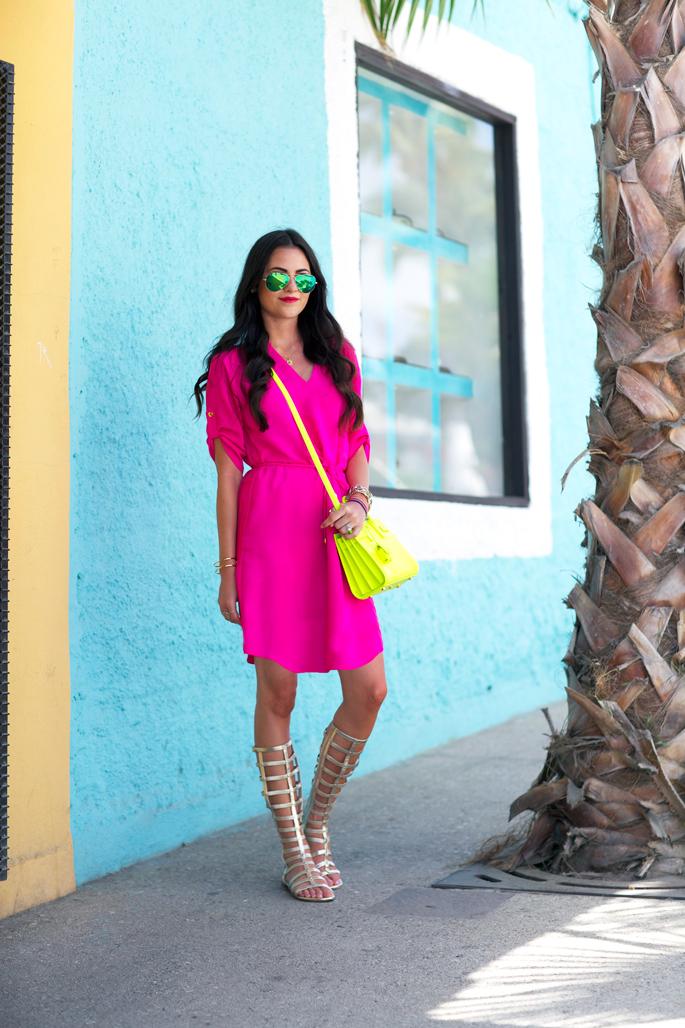 hot-pink-summer-dress