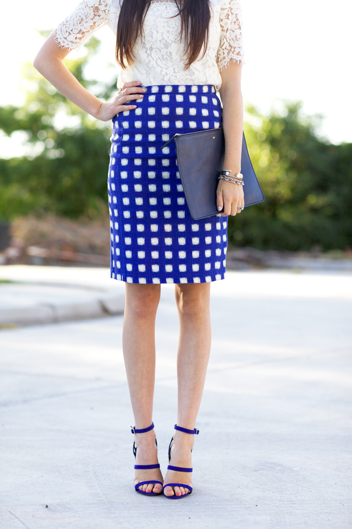 blue-checked-pencil-skirt