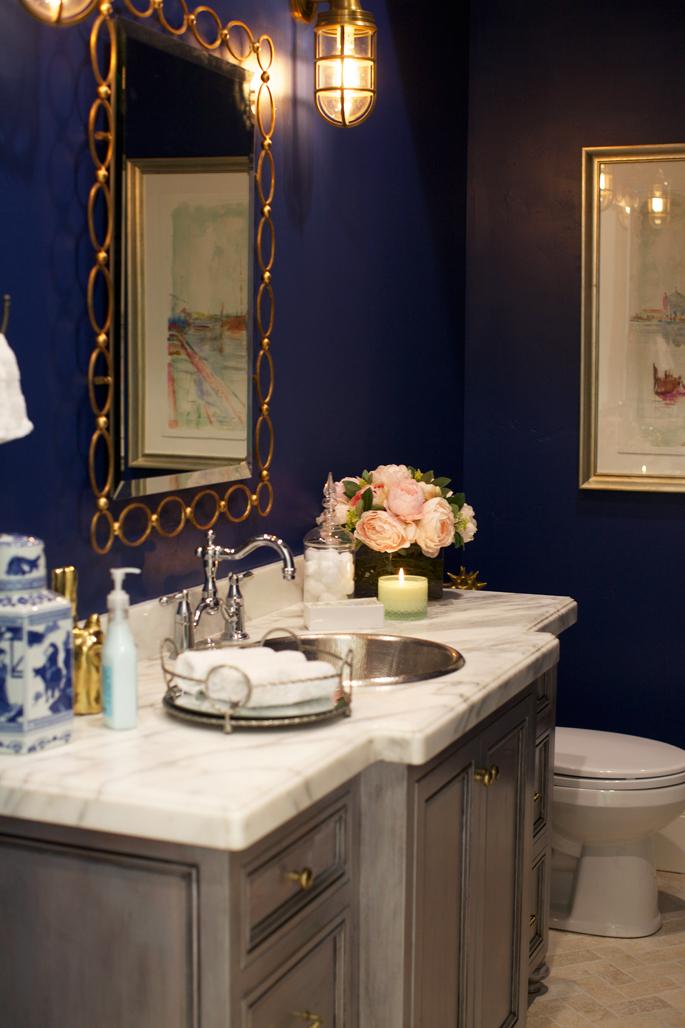 Navy Blue White And Gold Bathroom Novocom Top