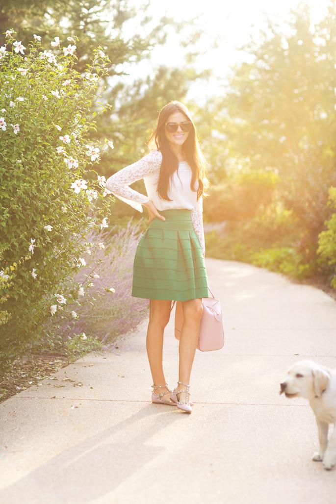 green-anthropologie-skirt