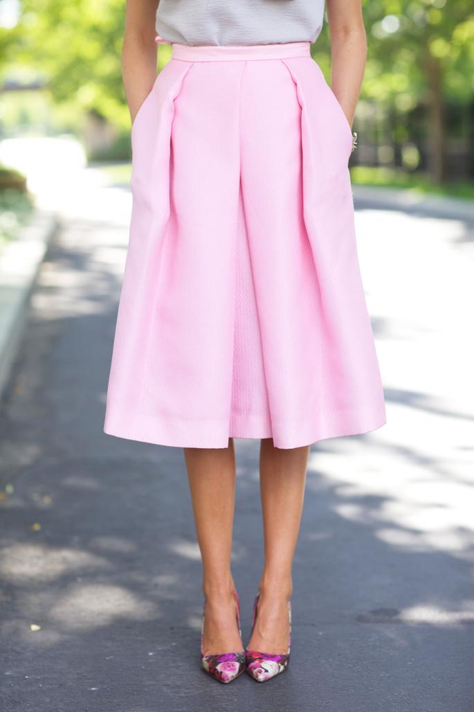tibi-pink-midi-skirt