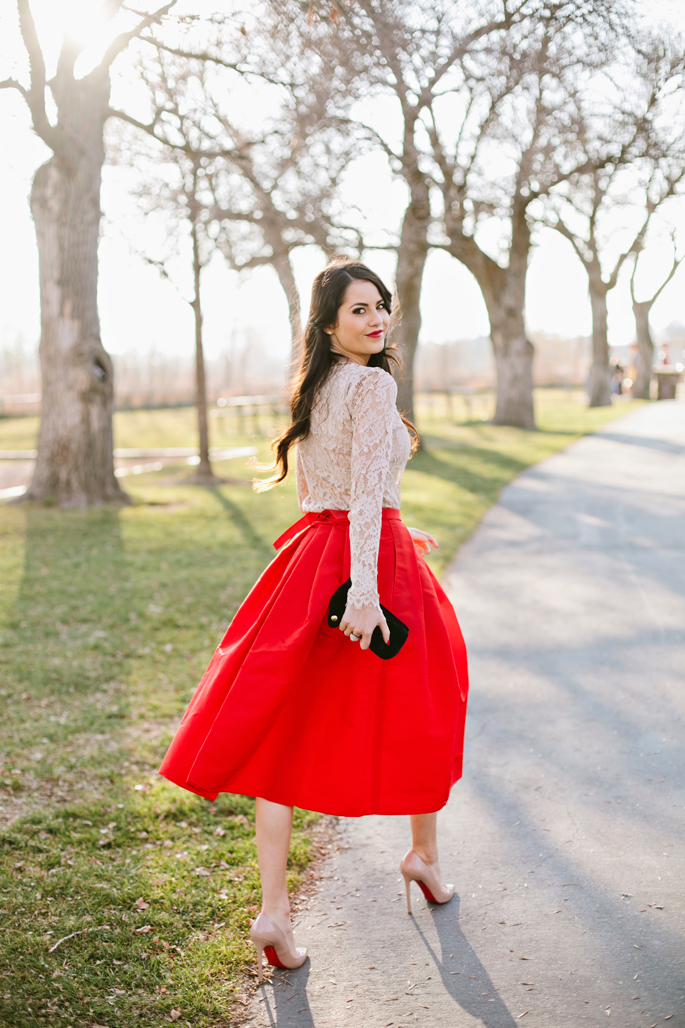 christmas-red-holiday-midi-skirt-tibi