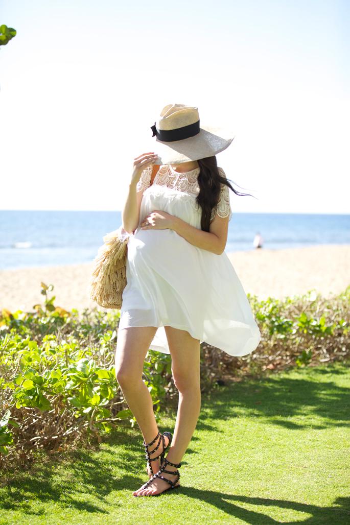 white-lace-beach-vacation-dress