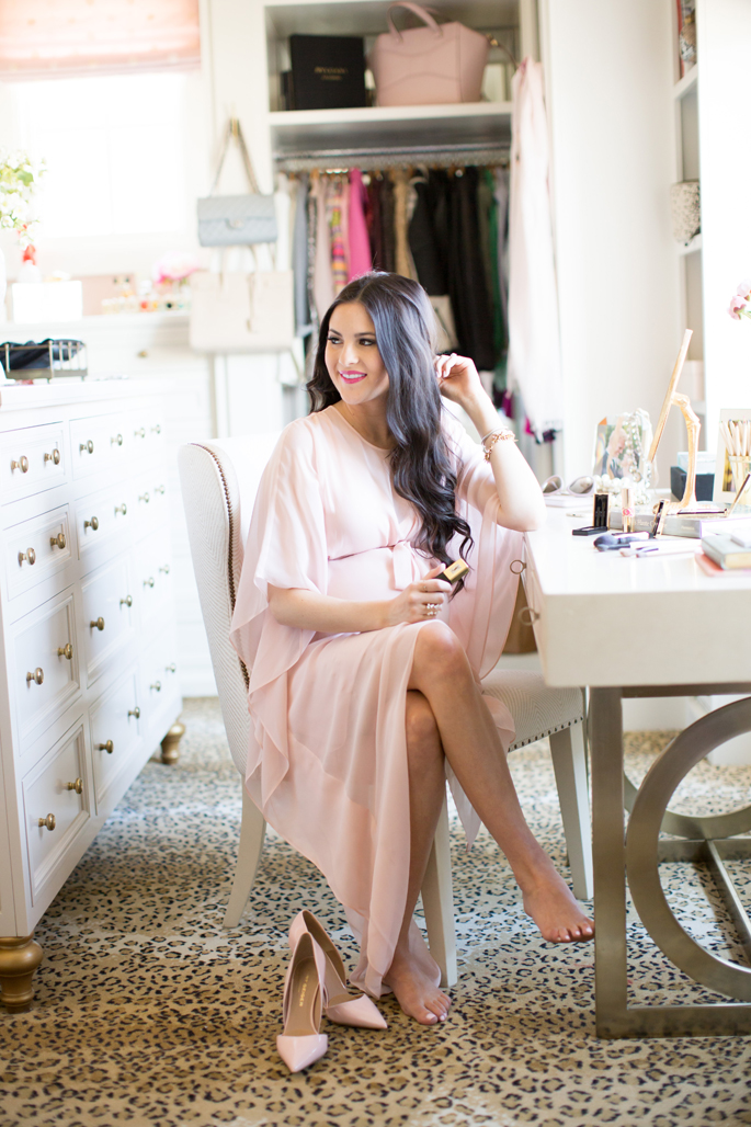 light-pink-bcbg-dress