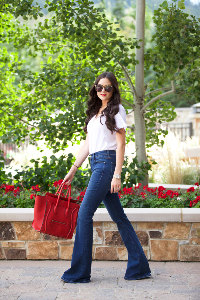 high-waisted-flare-denim-jeans